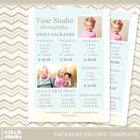 Photography Pricing Guide Template Awesome Graphy Print Package Pricing List Template Portrait