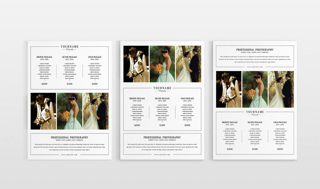 Photography Pricing Guide Template Awesome Modern Graphy Price List Template Deals