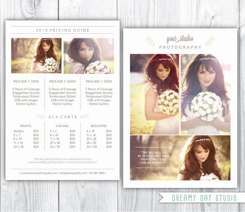 Photography Pricing Guide Template Best Of Photography Pricing Template Wedding Photographer Pricing