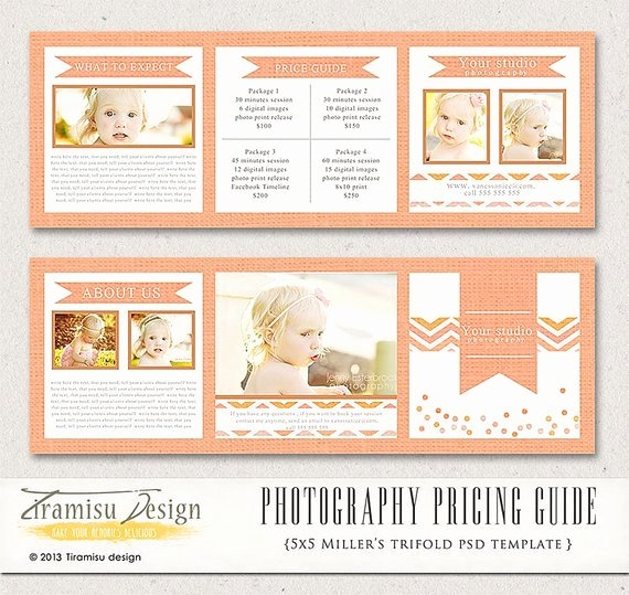 Photography Pricing Guide Template Elegant Graphy Trifold Brochure Template Client Wel E Guide