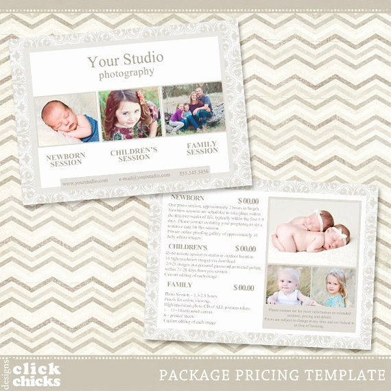 Photography Pricing Guide Template Fresh Graphy Package Pricing List Template Portrait