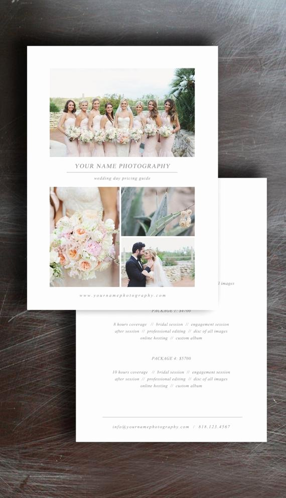 Photography Pricing Guide Template Inspirational Wedding Graphy Price List Pricing Guide Template