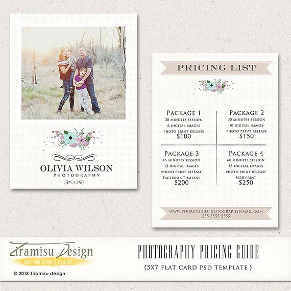 Photography Pricing Guide Template Lovely Graphy Price Guide Graphy Price List Price List