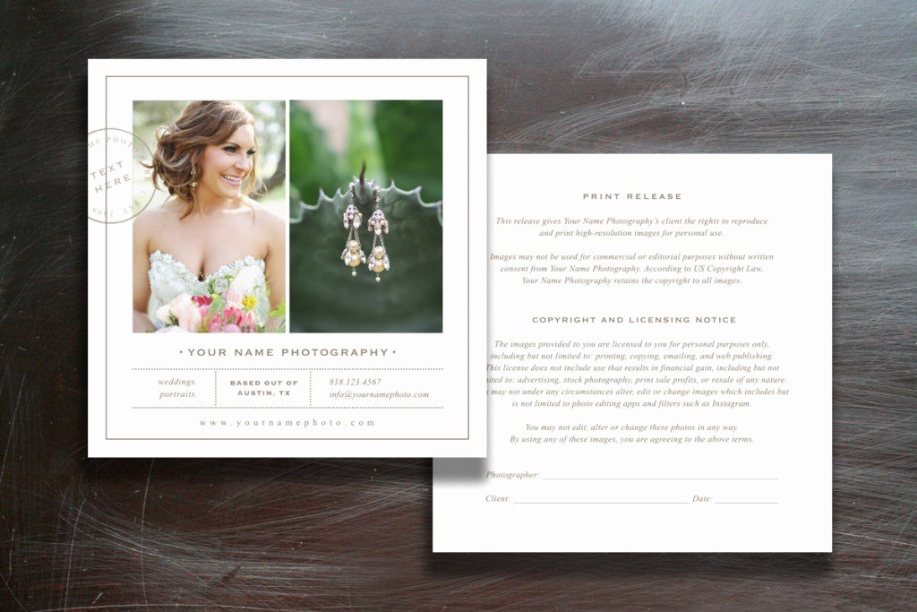Photography Print Release Template Awesome Release form Template Deals for Your Studio