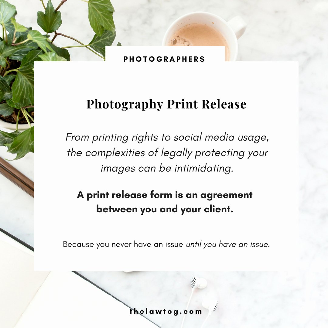 Photography Print Release Template Elegant Photo Release Template