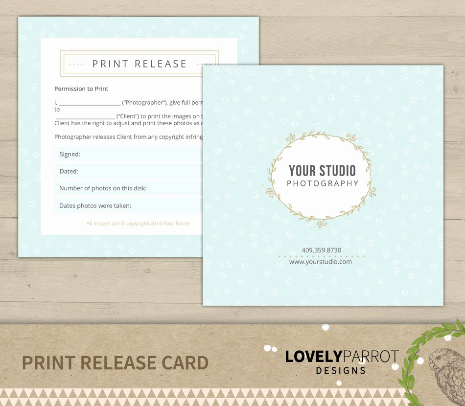Photography Print Release Template Fresh Graphy Print Release Template for by Lovelyparrotdesigns