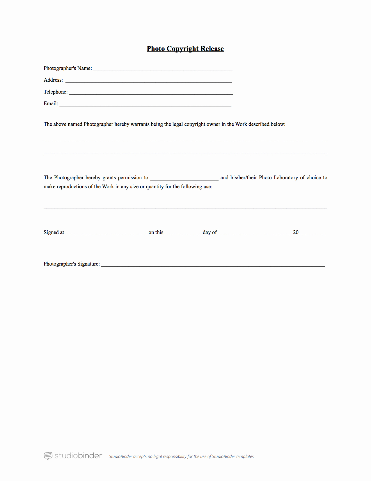 Photography Print Release Template Fresh why You Should Have A Release form Template
