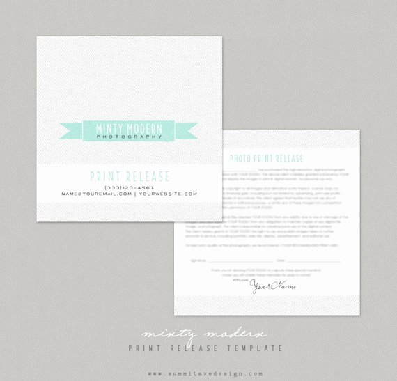 Photography Print Release Template Inspirational Print Release Graphy Template Modern Minty by Summit