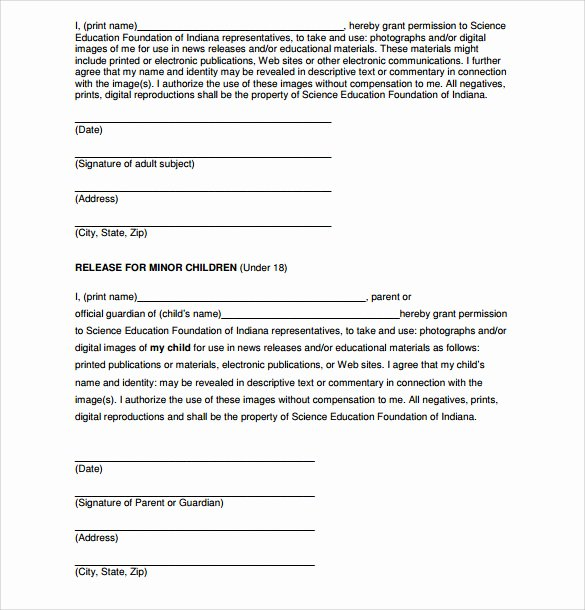 Photography Print Release Template New 7 Print Release forms – Pdf