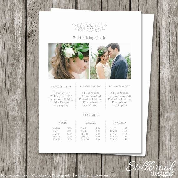 Photography Shot List Template Elegant 25 Best Ideas About Graphy Price List On Pinterest