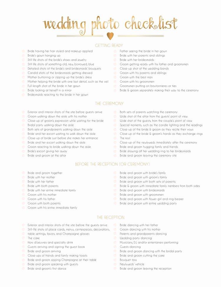 Photography Shot List Template Inspirational the Importance Of A Wedding Shot List