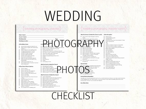 Photography Shot List Template Inspirational Wedding Graphy Checklist forms Checklist Editable