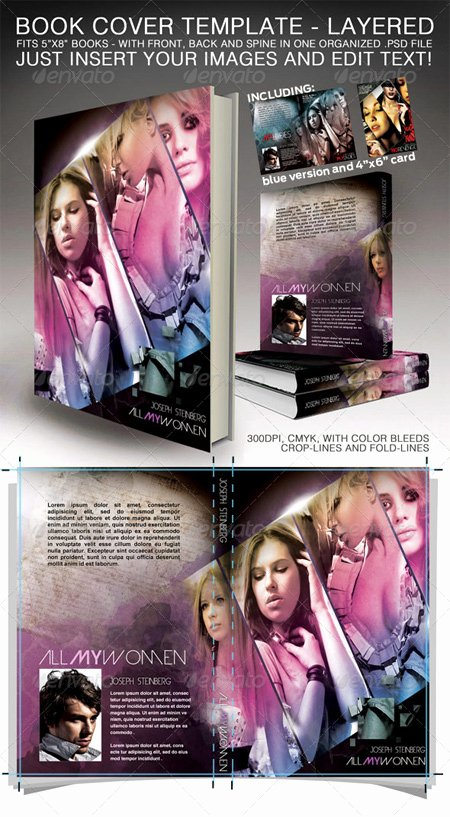 Photoshop Book Cover Template Elegant Book Cover Shop Template