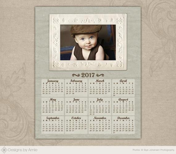 Photoshop Calendar Template 2017 Beautiful Items Similar to 2017 Calendar Template