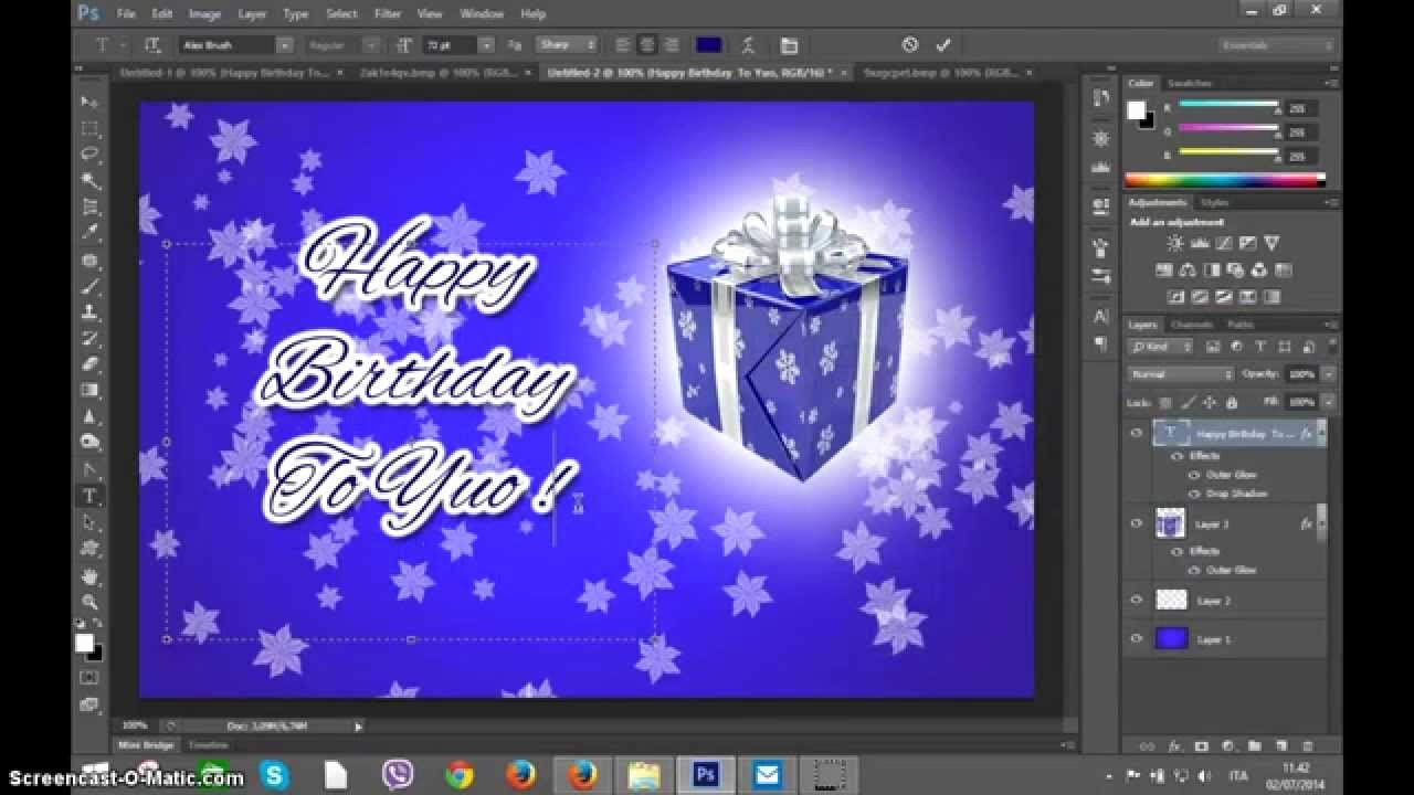 Photoshop Greeting Card Template Fresh Shop Create Happy Birthday Greetings Card