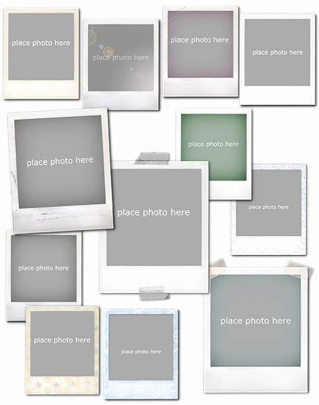 Photoshop Picture Frame Template Best Of Frames Vol1 Polaroid Shop Templates and tools