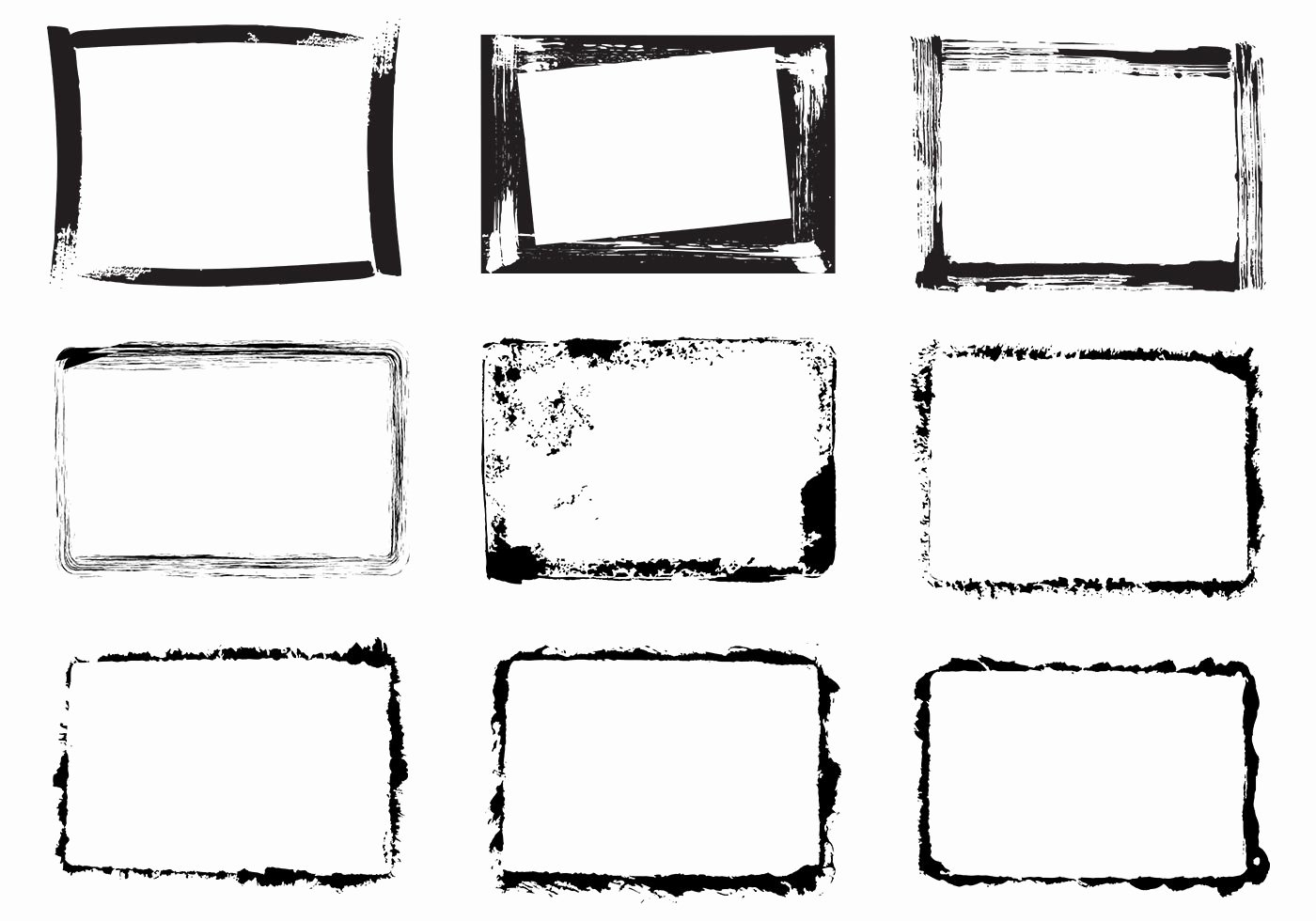 Photoshop Picture Frame Template Lovely Grunge Frame Vector Pack Download Free Vector Art Stock