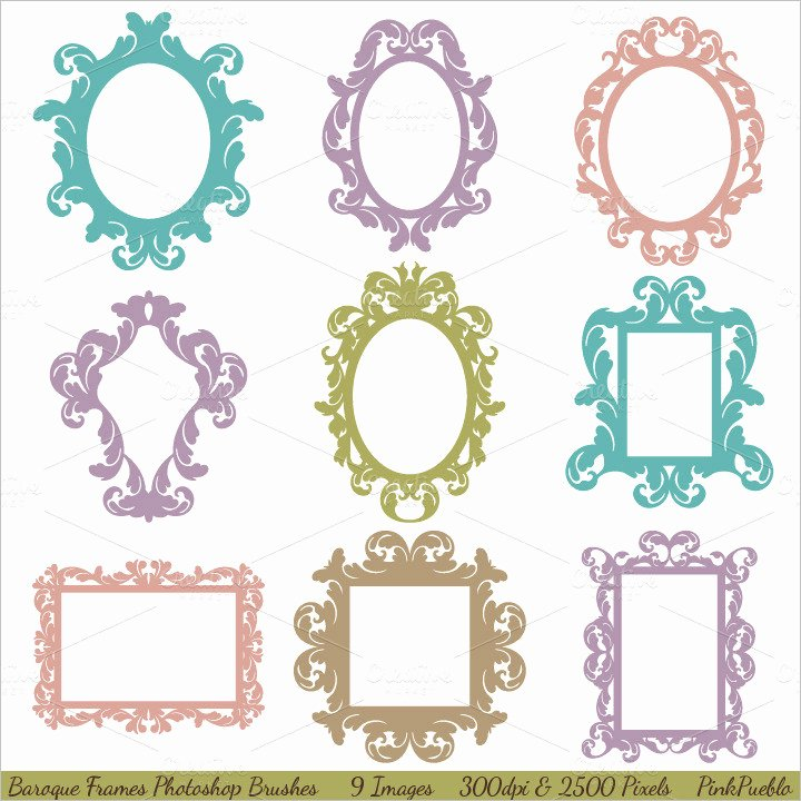 Photoshop Picture Frame Template Luxury 35 Shop Frame Brushes Free Brushes Download