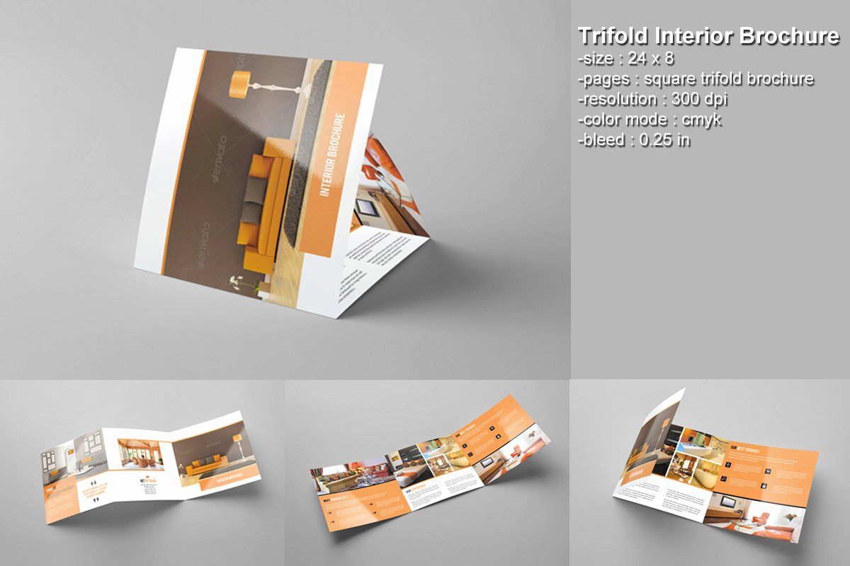 Photoshop Trifold Brochure Template Beautiful Square Trifold Brochure Interior Design Brochure Shop