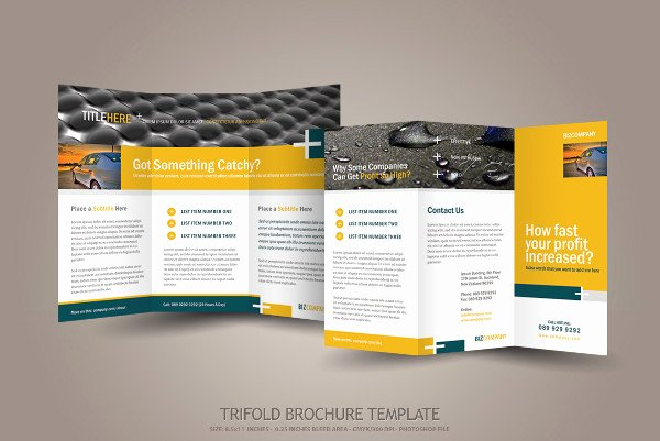Photoshop Trifold Brochure Template Best Of 9 Engineering Pany Brochures Editable Psd Ai