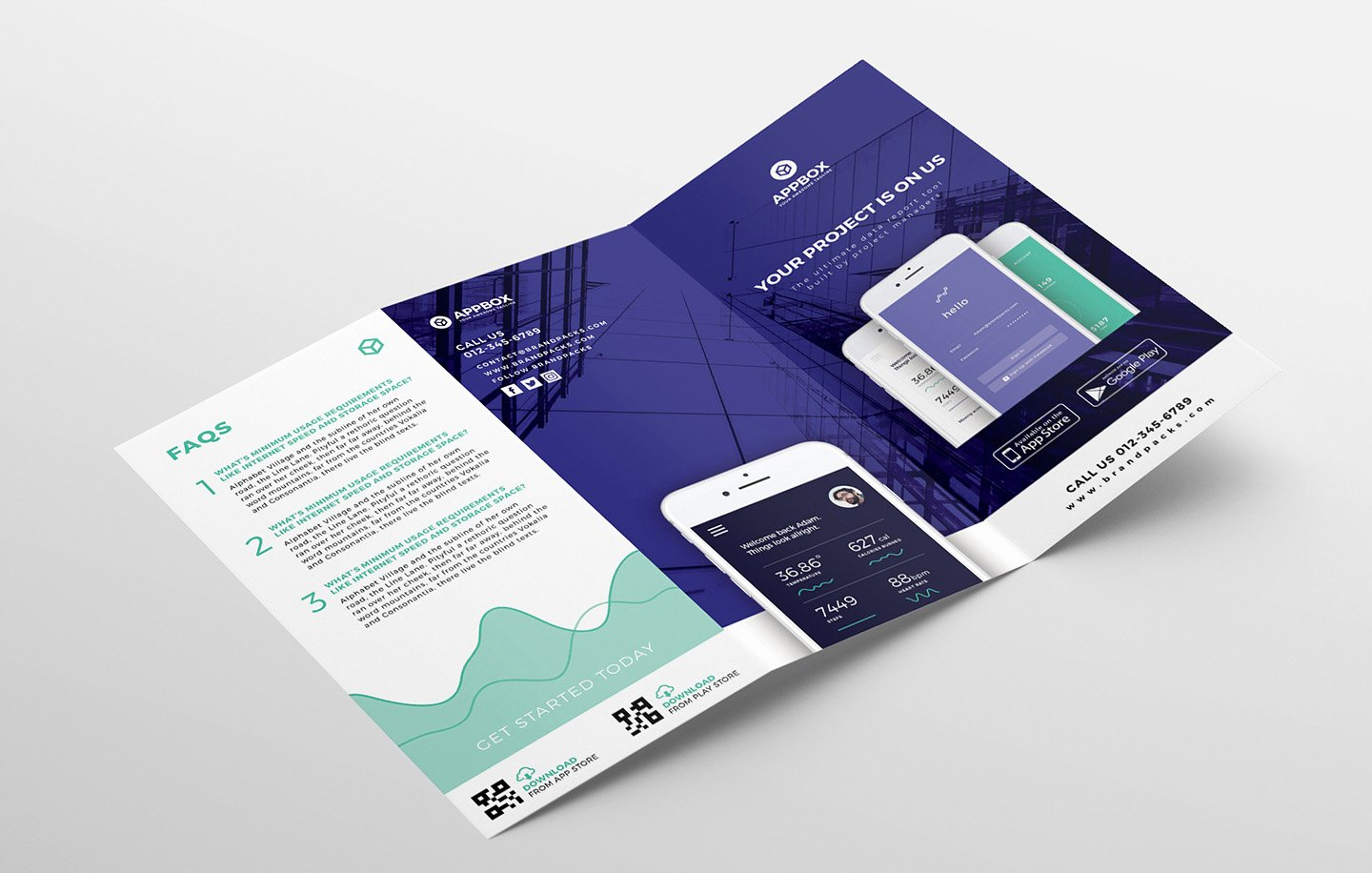 Photoshop Trifold Brochure Template Inspirational Mobile App Tri Fold Brochure Template Psd Ai & Vector