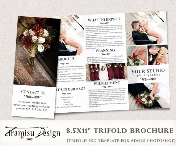 Photoshop Trifold Brochure Template Lovely Wedding Graphy Guide Trifold Brochure Shop