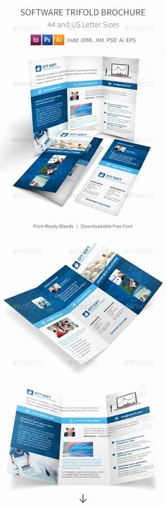 Photoshop Trifold Brochure Template Luxury Free Datasheet Template by Stocklayouts