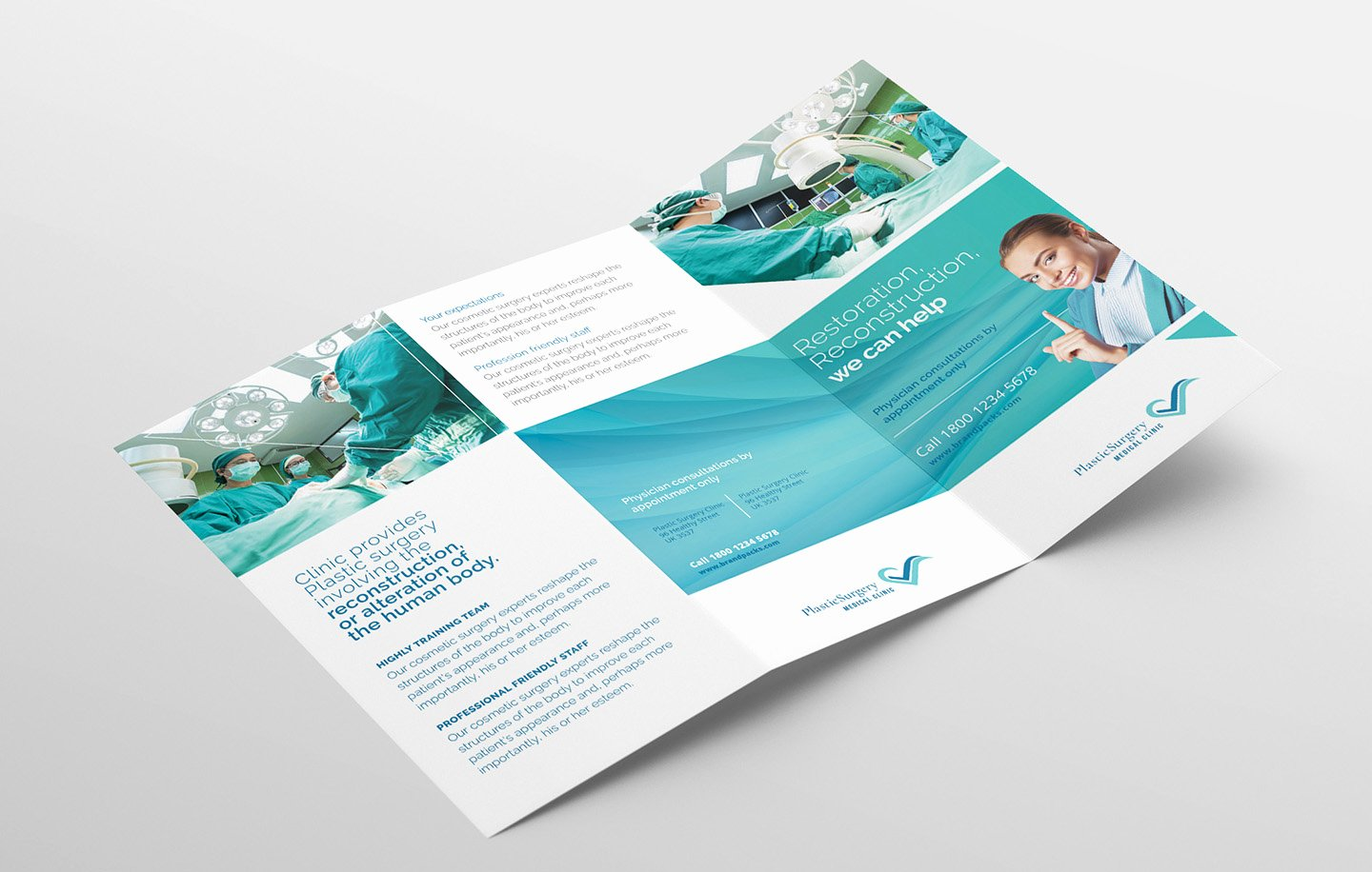 Photoshop Trifold Brochure Template Luxury Hospital Trifold Brochure Template for Shop