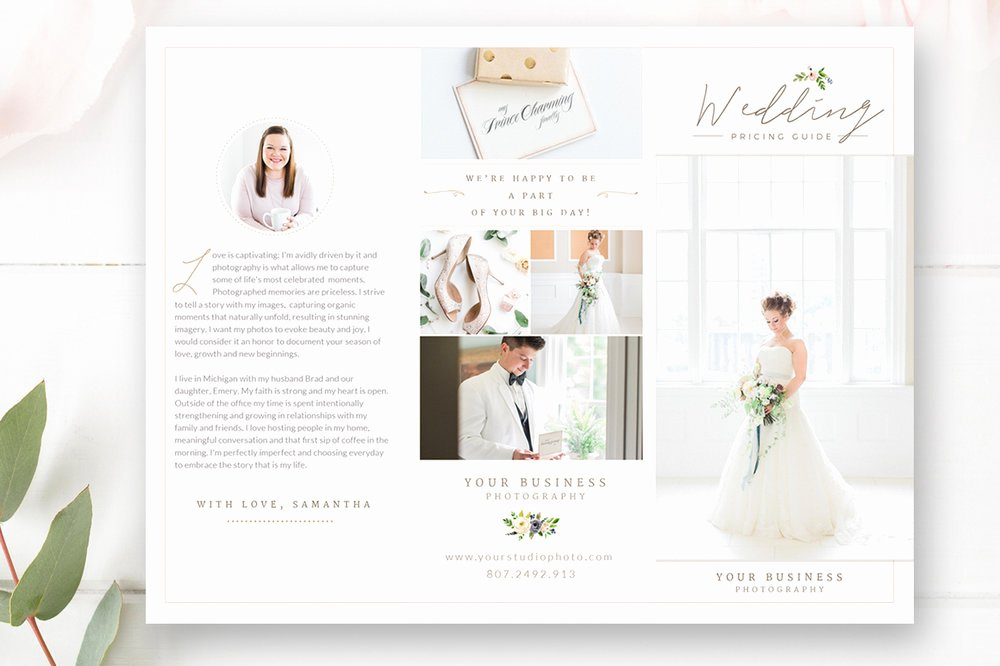 Photoshop Trifold Brochure Template New Free Wedding Dress Brochures Wedding Dress Catalogue 1