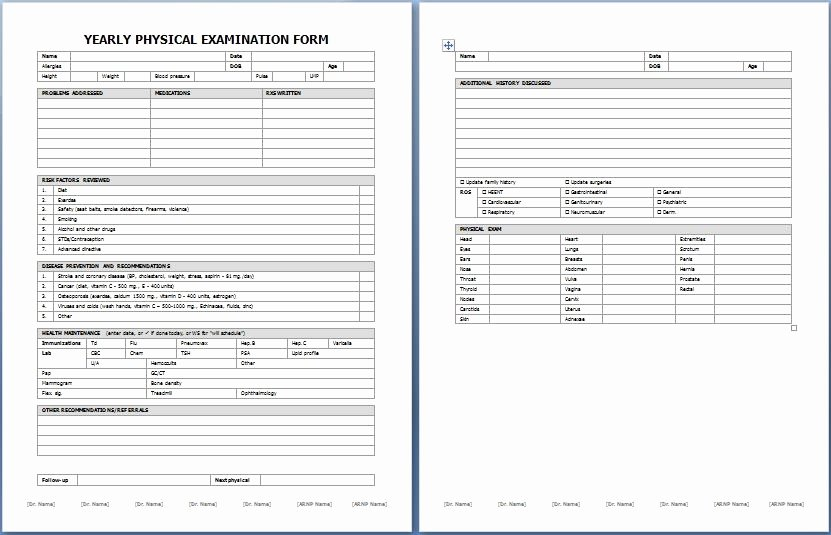 Physical Exam form Template Elegant Physical Exam Template Beepmunk