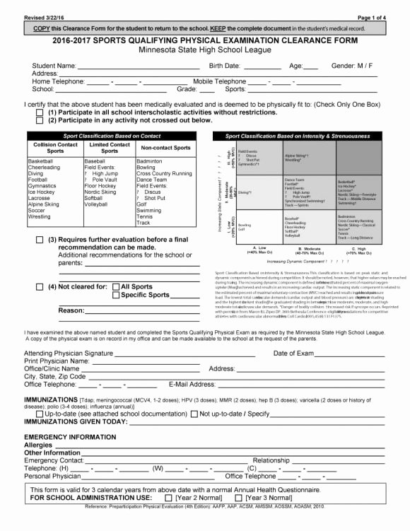 Physical Exam form Template Luxury 43 Physical Exam Templates & forms [male Female]