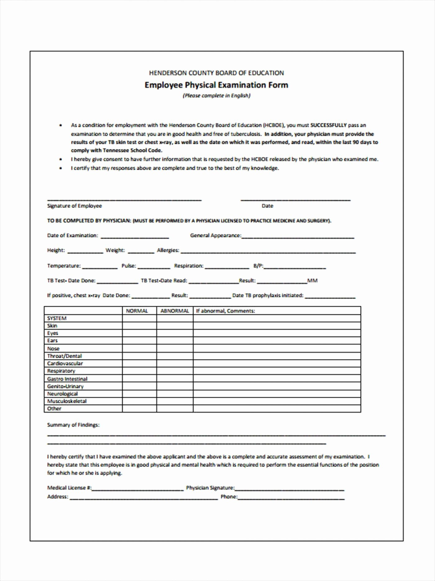 Physical Exam form Template Unique Veterinary Physical Exam form Template – Radiofama