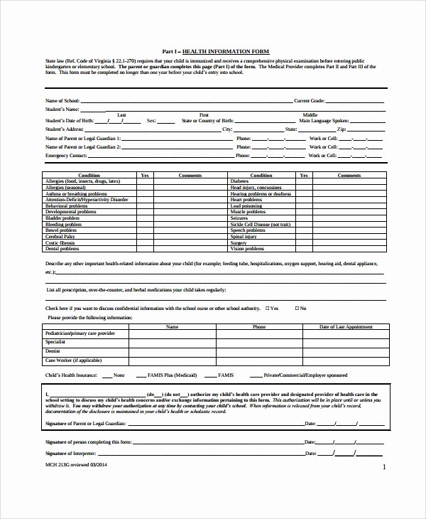 Physical Examination form Template Fresh 9 Sample Physical Exam forms – Pdf