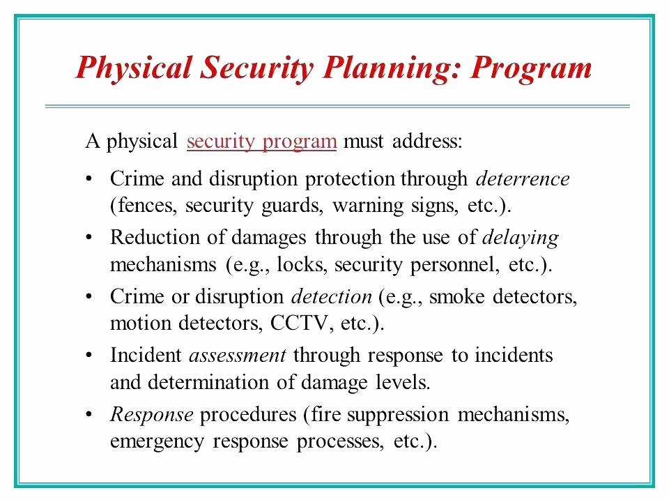 Physical Security assessment Template Inspirational Physical Security Survey Template Residential Site Risk