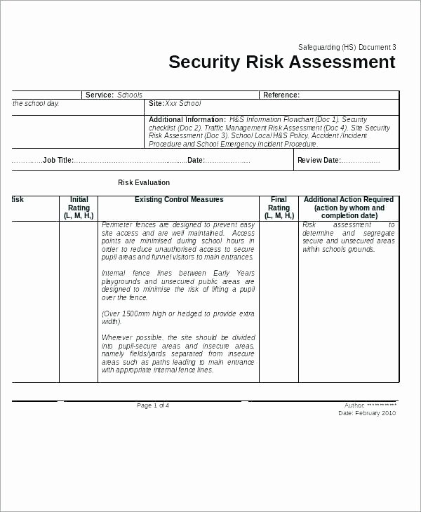 Physical Security assessment Template Inspirational the Physical Security Risk Management Book assessment