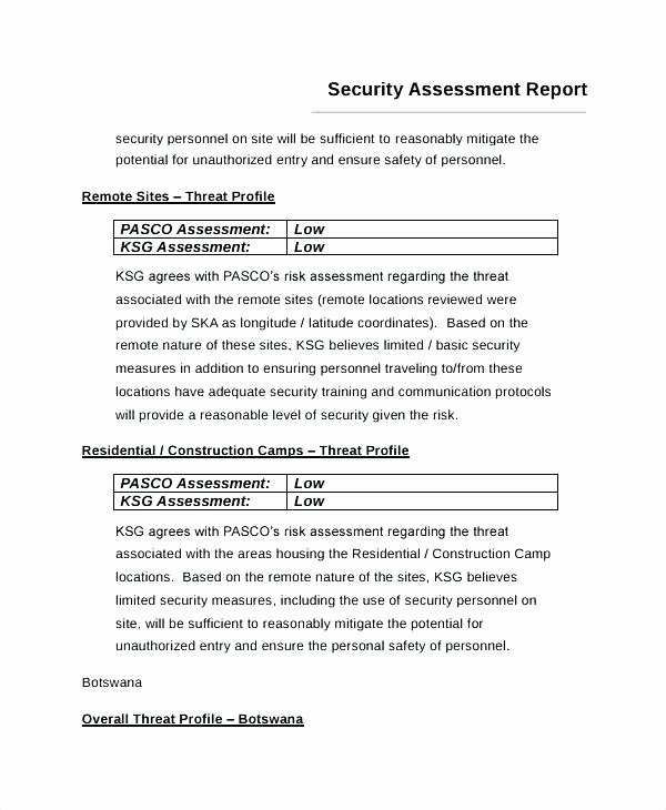 Physical Security assessment Template Unique Threat and Risk assessment Template Clip Sample E