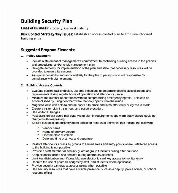 Physical Security Plan Template Beautiful Sample Security Plan Template to Pin On Pinterest