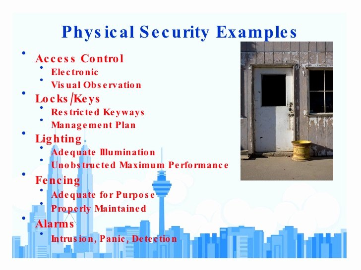 Physical Security Plan Template Fresh Physical Security assessment