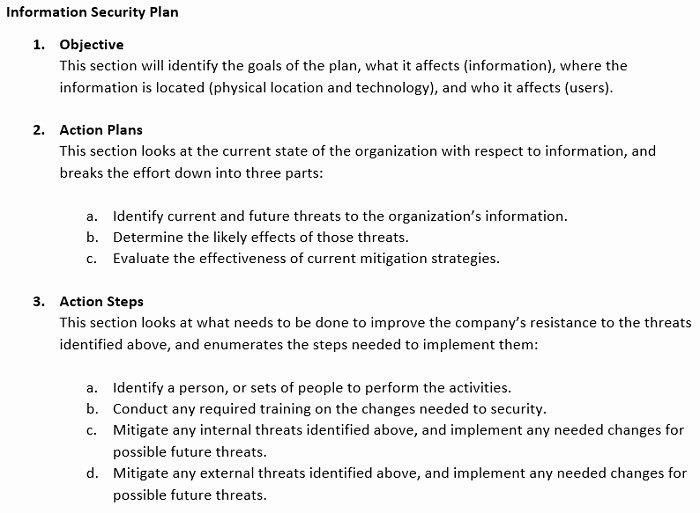 Physical Security Plan Template New Information Security Plan Examples & Incident Response