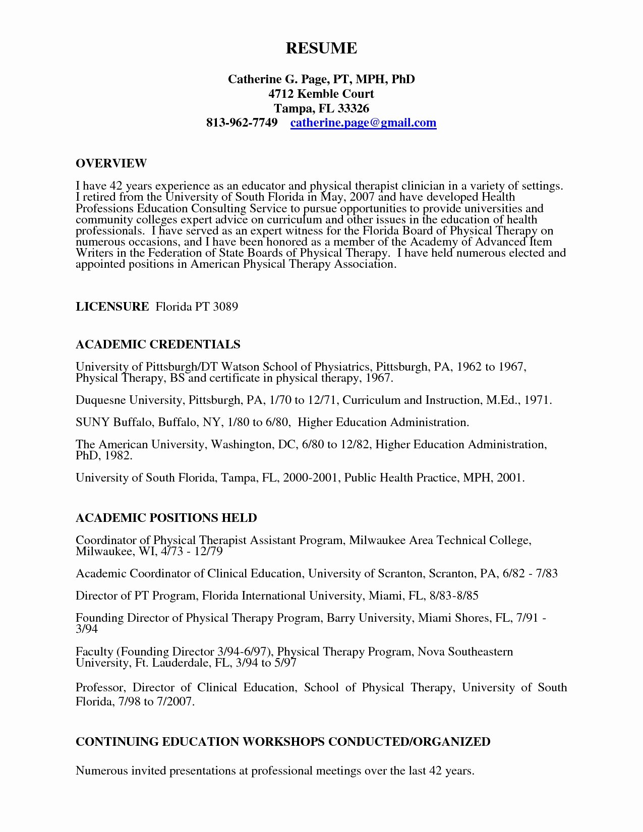Physical therapy Resume Template Awesome Sample Mental Health Counselor Resume Valid Physical