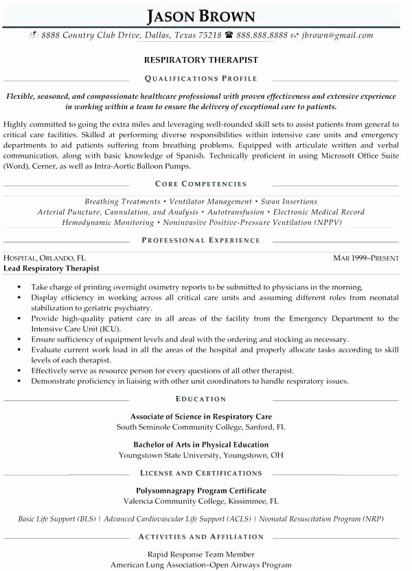 Physical therapy Resume Template Inspirational Physical therapist assistant Resume New Examples Job