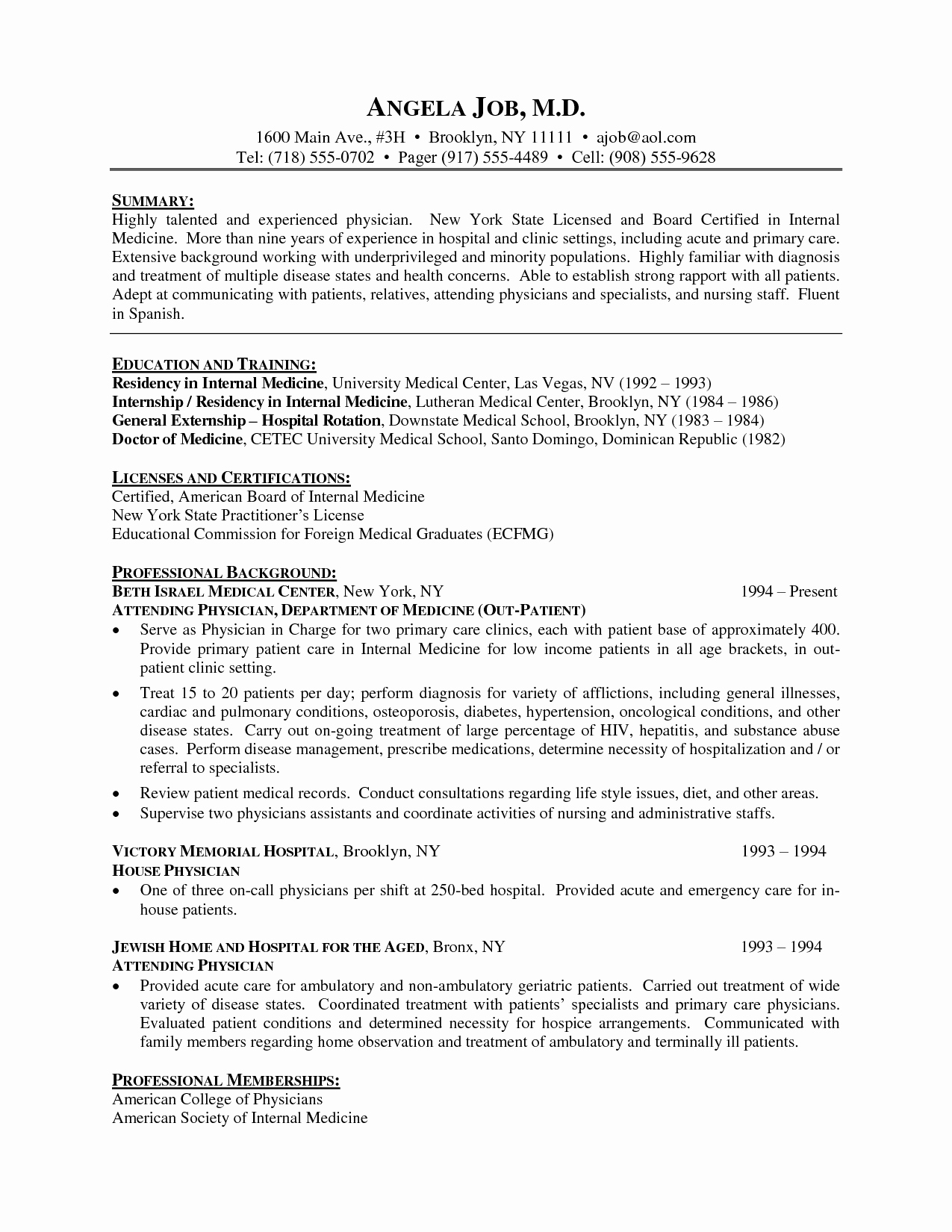 Physician Cv Template Word Awesome Resume Template Medical Doctor Cv Resume Physician Cv