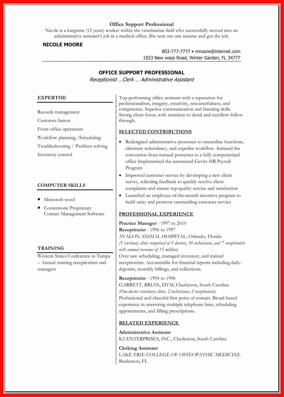 Physician Cv Template Word Inspirational Resume Word Doc Template