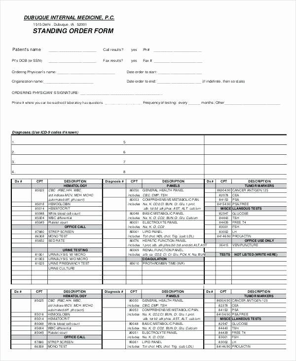 Physician orders form Template Beautiful Physician order form Template Verbal Sample Free Documents
