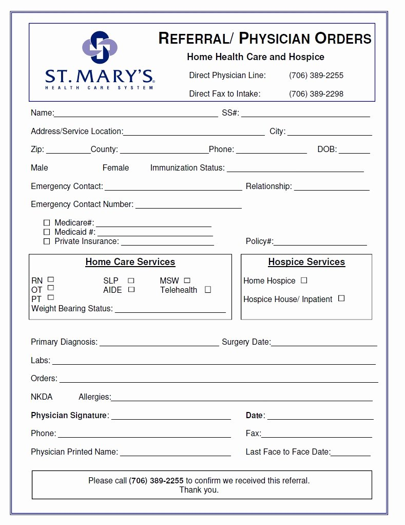 Physician orders form Template Best Of Physician order form Template – Radiofama
