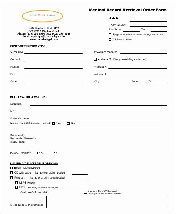 Physician orders form Template Inspirational Medical order forms 11 Free Word Pdf format Download