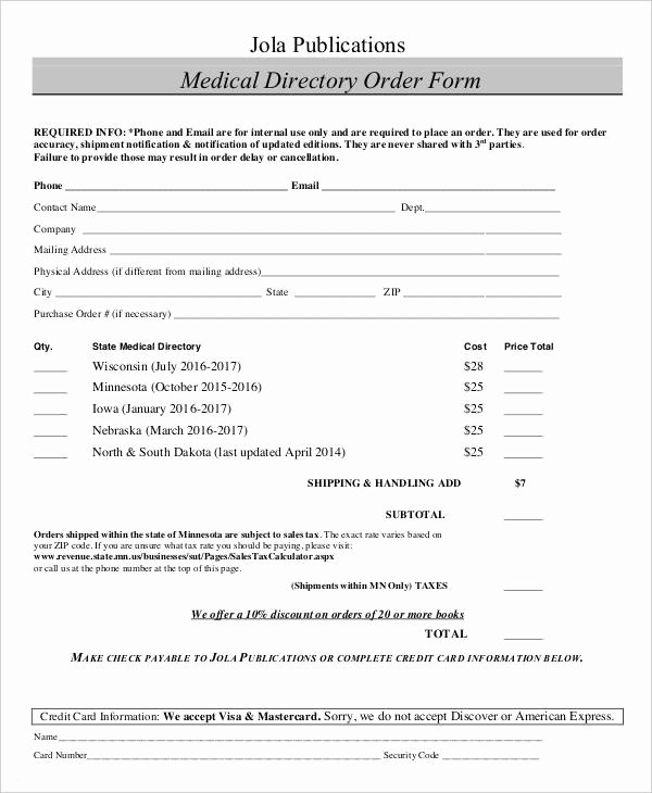 Physician orders form Template Unique Medical order forms 11 Free Word Pdf format Download