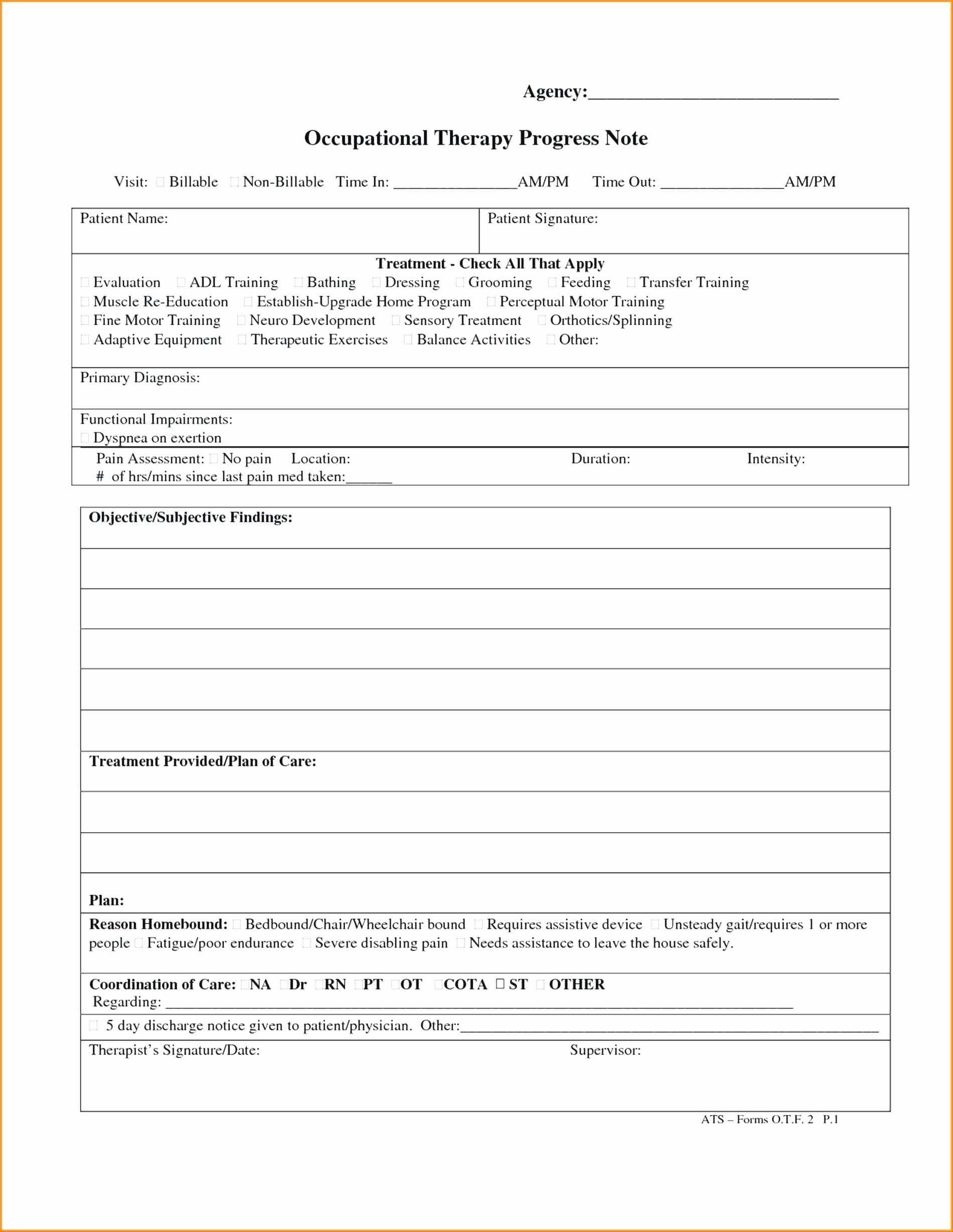 Physician Progress Note Template Lovely Free Counseling Progress Notes Template Best 25