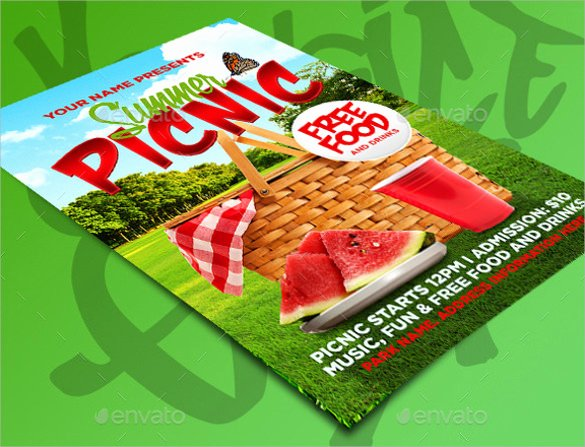 Picnic Flyer Template Free Awesome 21 Picnic Flyer Templates Word Psd Publisher
