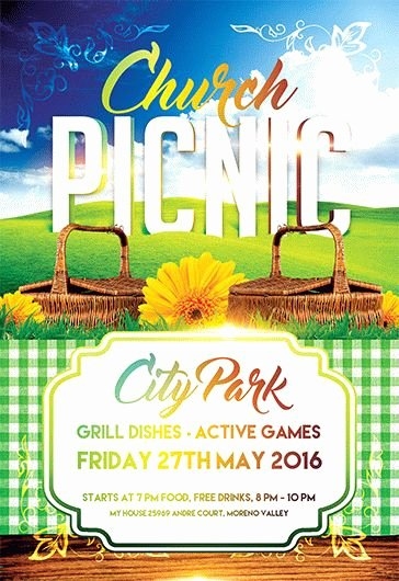 Picnic Flyer Template Free Awesome Church Picnic – Flyer Psd Template – by Elegantflyer